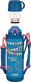 THERMOS 膳魔师 水瓶 真空隔热2用水壶 1.0L/1.03L 蓝黑色 FHO-1001WF BL-F
