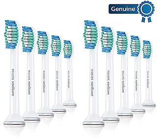 Philips 飞利浦 Sonicare 正品替换刷头 Basic Clean HX6010/30,1.5倍除斑,标准,10支装,白色