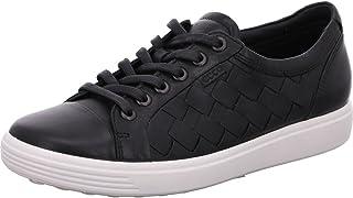 ECCO 女士 Soft 7 Woven 系带时尚运动鞋
