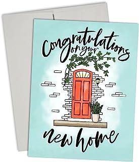 """Congratulations On Your New Home"" - 高级贺卡套装 - 10 张装卡片套装 带灰色信封 - Palmer Street Press 出品"
