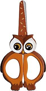 Wedo 736002 儿童剪刀 手工剪刀 Lulu (由不锈钢制成 圆头 柔软手柄 13 厘米) 棕色 / 橙色