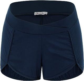Maacie 女式孕妇休闲运动短裤,棉质低腰性感提臀