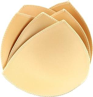 文胸垫插入 3 双三角舒适运动比基尼上托(米色)