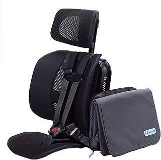 WAYB Pico 旅行汽车座椅和旅行包套装 - 前向便携式和可折叠汽车座椅,适合幼儿和儿童 22-50 磅和 30-45 英寸 - 非常适合旅行、汽车、车床和飞机使用