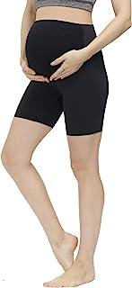 HOFISH 女式孕妇短裤 弹力瑜伽裤 孕妇短裤 黑色 中号
