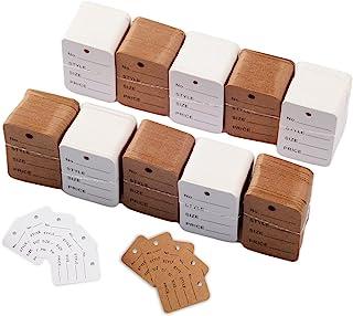 1000 件价格标签白色商品标签牛皮纸价格标签套装优惠券标签服装标签商品标记标签商店、衣服、珠宝(1.38x1.97 英寸)