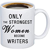 MBMSO 趣味作家馬克杯 Only the Strongest Women Become Writers 作家禮物小說…