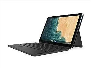 Lenovo 联想 Chromebook Duet, 2 合 1, 10.1 英寸 WUXGA (1920 x 1200) 显示屏, MediaTek Helio P60T, 4GB LPDDR4X 内存, 128GB eMCP SSD, 集成 ARM G72 MP3 显卡, Chrome OS, ZA6F0031US, 冰蓝色 + 铁灰色
