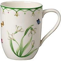 Villeroy & Boch 多彩弹簧咖啡杯,340毫升,优质瓷器,白色/彩色