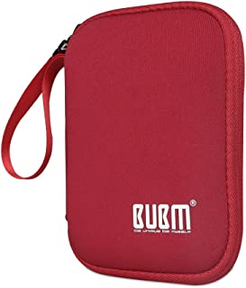 外置硬盘盒,BUBM 软便携旅行箱,适用于 2.5 英寸便携式外置硬盘/便携式硬盘保护盒/电子旅行收纳盒/电缆袋-LYSB01H7KIRO6-CMPTRACCS