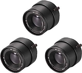 uxcell 相机变焦镜头 16mm 焦距 720P F1.4 1/3 英寸 CS 支架适用于 CCD 相机,黑色 3 件