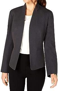NINE WEST 女式夹克中号弹力前开襟纯灰色 M 码