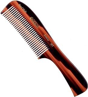 Kent 10T 大号全粗发质顺发梳,宽齿适合长毛卷发卷发。梳子梳适合干湿。梳子由纤维素切割和手工抛光,英国手工制作