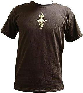 AutoLoc Power Accessories 短袖细条纹 T 恤(棕色,M 码)