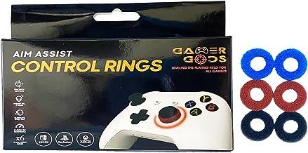 Aim Assist 运动控制环 3 套,适用于 PlayStation 4 (PS4),Xbox One,Switch Pro & Scuf 控制器(黑色/蓝色/红色)