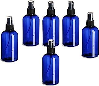 6 件装 �C 8 盎司(约 226.8 克) �C Blue Boston 塑料喷雾瓶 �C 精细喷雾器和防尘盖,适用于精油、香水、清洁产品。