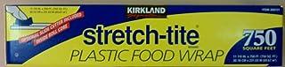 Kirkland Signature Stretch Tite 塑料食品包装 750 平方英尺;全新