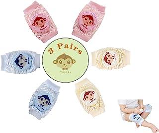 婴儿爬行用护膝 透气护膝 男童女童护膝 3双装