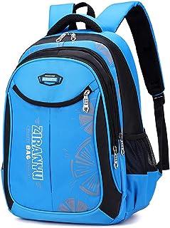 MITOWERMI 新款儿童背包男孩小学生背包耐用小学生书包休闲背包 天蓝色