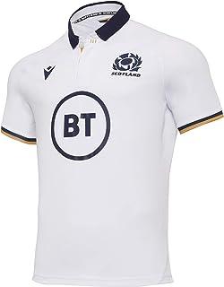 Macron SRU M20 衬衫 SS SR Replica Away 高级苏格兰橄榄球 2020/21 男士