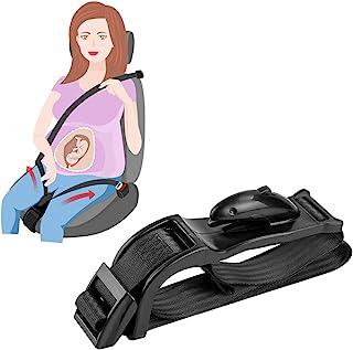 孕妇*带调节器,可靠的驾驶座椅带,适合孕妇、孕妇、腹部保护未出生婴儿舒适孕妇*带支架、凸轮皮带钩(黑色)