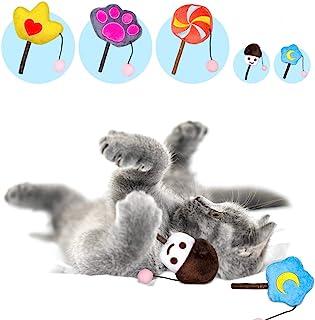 N/D Catnip 室内猫玩具 - 猫玩具 5 件装猫薄荷玩具 毛绒玩具 猫薄荷棒互动猫玩具