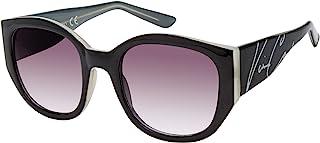 Vince Camuto 女式 VC862 大号方形太阳镜带标志性标志和 * 紫外线防护,65 毫米