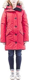 Canada Goose 女式 Rosslcair 派克大衣(紅色,XL)
