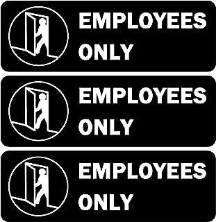 Employees Only 标志,自粘标牌,适用于办公室,22.86 X 7.62 厘米快速简易安装,高级亚克力设计,适用于办公室商务