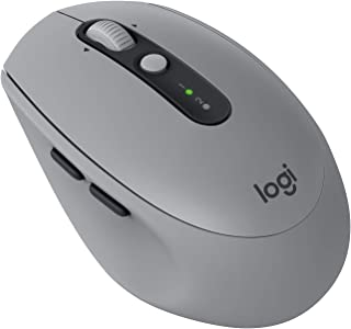 Logitech M590 Silent Wireless Mouse (Multi-Device Silent Bluetooth Mouse for Windows/Mac) - Mid Grey