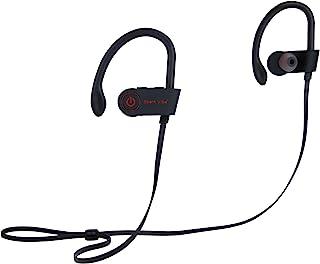SparkVibe 蓝牙耳机 IPX8 防水无线运动耳机 HiFi 低音立体声防汗耳塞 带麦克风 降噪耳机 适用于锻炼、跑步、健身、8 小时播放时间
