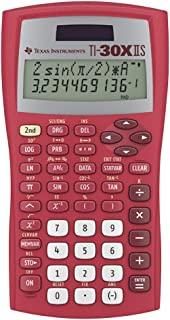 Texas Instruments TI-30X 太阳能科学计算器太阳能红色