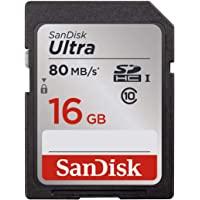 SanDisk Ultra SDXC UHS-I 存储卡,高达 80MB/sSDSDUNC-016G-GN6IN 16G…