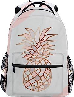 粉色菠萝背包书包旅行背包 适合学生青少年女孩 Pattern 1 均码