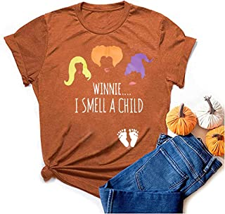 Hocus Pocus T 恤女式万圣节搞笑 T 恤桑德森姐妹女巫短袖图案 T 恤上衣