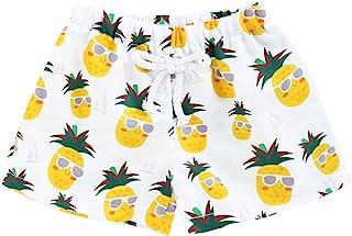 男婴泳裤,幼儿男孩叶片沙滩游泳短裤泳衣夏季速干泳装套装