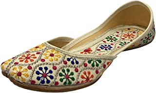 Stop n Style 女士霜 多设计师 Punjabi Juttis 传统 Khussa 民族霜 Multi Mojari