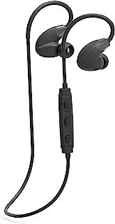 蓝牙运动耳机 入耳式耳机 | 无线立体声带耳挂耳机 | 耳机带麦克风,5 小时运行时间,超轻,防水,适用于 iPhone iOS 安卓,黑色