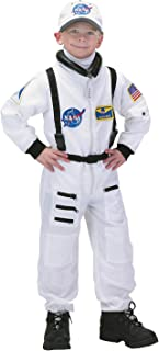 Aeromax Jr. Astronaut Suit with Embroidered Cap, White, size 4/6