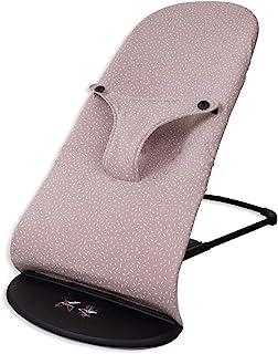 Babyline Bocoro 棉质枕套,低*,柔软透气,适用于吊床Babybjörn Balance,Soft und Bliss(五彩纸屑粉红色),男女皆宜