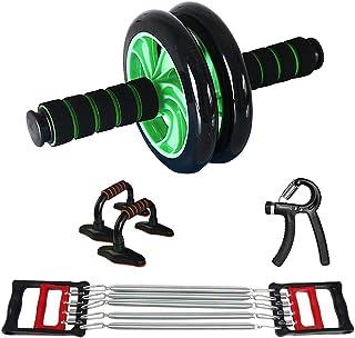 ideapro 腹肌滚轮 4 合 1 腹肌滚轴锻炼套装 胸部扩展器 俯卧撑杆 手握 健身器材 适用于男士女士