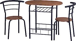 不二贸易 餐桌套装 2人用 宽120厘米 深40厘米 棕色 19361