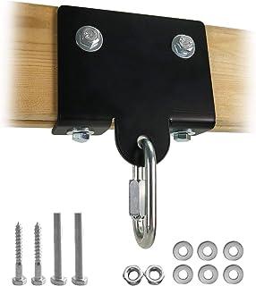 Qualward 重型拳击拳击袋挂钩,重型包架支架,壁挂天花板安装木梁钩,用于拳击泰拳训练