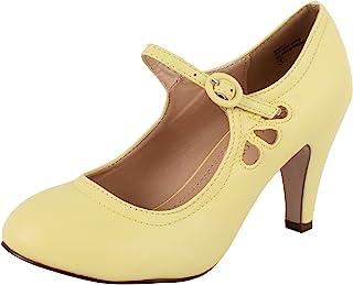 chase & CHLOE 女式圆头中跟玛丽珍鞋高跟 - 鞋高跟鞋