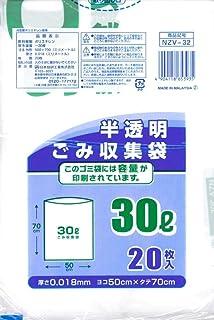 NZV-32 容量标识半透明垃圾袋30L20P