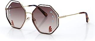 Chloé 女士 CE132SRI 太阳镜,Havana/Gr 棕色镜片 W/印花,标准