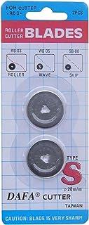 DAFA 2 件 28 毫米旋转刀替换刀片,银色