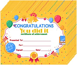 Hohomark 30 件儿童*证书 20.32 厘米 x 25.40 厘米 幼儿园祝贺你做到了成就证书 学生教师回学校教室用品