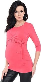 Purpless 孕妇 2合1孕妇和哺乳七分袖披肩上衣 女衬衫 7735