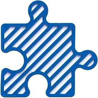 Genics 硅胶三脚架垫,一套 4 个隔热垫,适用于桌子和台面的热垫,可用作杯垫、碗垫、锅垫、餐垫、餐垫、防滑垫(蓝色)